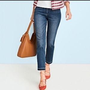 Talbots Flawless Five Pocket Frayed Hem Jeans 4